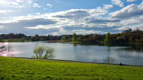 Linlithgow Loch at Linlithgow Palace on a sunny day. Royalty Free Stock Photography