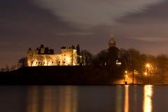 Linlithgow Palast und Loch Stockfotografie