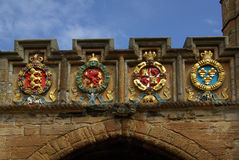 LINLITHGOW , SCOTLAND - June, 2013: Scottish coat of arms in Linlithgow Stock Images