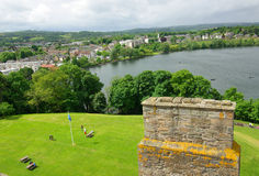 LINLITHGOW , SCOTLAND - June, 2013: Top view from the wall of Li Royalty Free Stock Photos