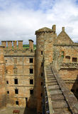 LINLITHGOW , SCOTLAND - June, 2013: Top view from the wall of Li Stock Image