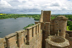 LINLITHGOW , SCOTLAND - June, 2013: Top view from the wall of Li Royalty Free Stock Image