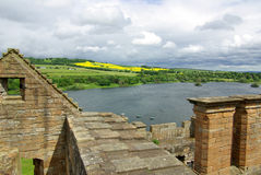 LINLITHGOW , SCOTLAND - June, 2013: Top view from the wall of Linlithgow Royalty Free Stock Photography