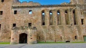 Linlithgow slott nära Edinburg i Skottland Arkivfoton
