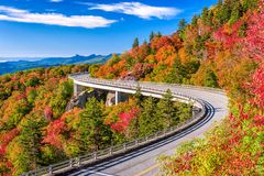 Linn Cove Viaduct lizenzfreies stockfoto