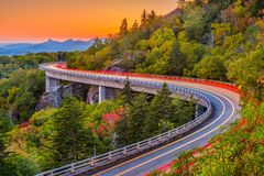 Linn Cove Viaduct royalty-vrije stock afbeelding