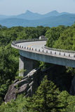 Linn Cove Viaduct Bends in Summer Royalty Free Stock Photo