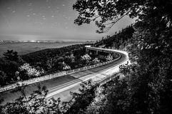 Linn cove viaduct in blue ridge mountains Stock Photography