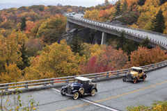 Linn Cove Viaduct in the Fall Stock Photo