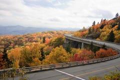 Linn Cove Viaduct in Nord Carolina fotografie stock