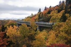 Linn Cove Viaduct in Nord Carolina fotografia stock libera da diritti