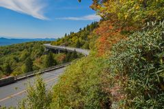 Linn Cove Viaduct North Carolina royalty-vrije stock afbeeldingen