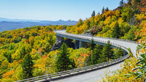 Linn Cove Viaduct North Carolina Royalty-vrije Stock Foto