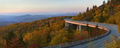Linn Cove Viaduct Pano, Blue Ridge Parkway royalty free stock photography