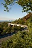 Linn Cove Viaduct, ruta verde azul del paseo Fotografía de archivo