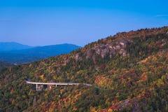 Linn Cove Viaduct Sunrise royalty free stock photos