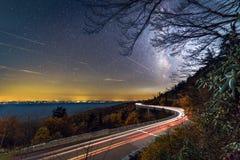 Linn zatoczki wiaduktu Milky sposób Zdjęcie Royalty Free