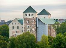 Linna Turun замка Турку, средневековое здание в городе Турку в Финляндии Стоковые Фотографии RF