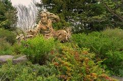 Linnaeus rzeźba w ogródzie botanicznym Zdjęcia Royalty Free
