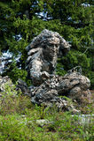 Linnaeus sculpture, art at the Chicago botanical gardens Stock Photo
