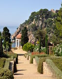 Linnaeus Temple Marimurtra, Blanes,Spain Stock Images