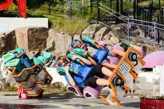 Linnanmaki nöjesfält, Kieppi hjälpmotorritt Royaltyfria Bilder