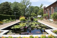Linneanhuis in de Botanische Tuin van Missouri, ST Louis MO royalty-vrije stock fotografie