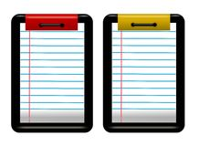 Linned note pad. Lined note pad with binding Royalty Free Stock Photos