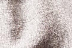 Linnen mixed texture. Close up of gray linnen viscose polyester mix texture, woven pattern Royalty Free Stock Photos