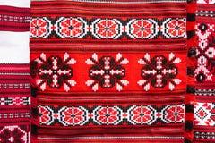 Linnenhanddoeken met Witrussisch Etnisch National Folkenornament  stock foto
