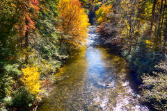 Linnville river flowing through blue ridge mountains valleys Royalty Free Stock Images