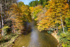 Linnville river flowing through blue ridge mountains valleys Royalty Free Stock Photography