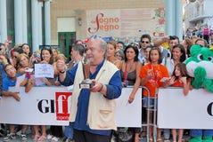Lino Banfi al Giffoni Film Festival 2011. Giffoni Valle Piana, Salerno, Italia - 21 Luglio, 2011 : Lino Banfi al Giffoni Film Festival 2011 - il 21 Luglio, 2011 Royalty Free Stock Image
