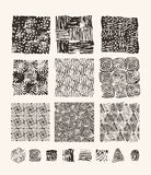 Lino cut textures Royalty Free Stock Photos