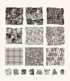 Lino cut textures Royalty Free Stock Photos