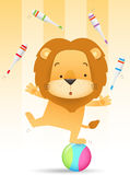 Lino the Lion juggling Stock Photography