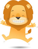 Lino the Lion Jumping with happy Stock Photos