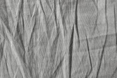 Lino más textura de los tipos de tela de algodón del algodón, primer detallado, arpillera de piedra texturizada vintage arrugada  Foto de archivo libre de regalías