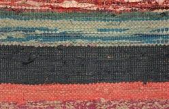 Lino tejido abigarrado ucraniano Imagen de archivo libre de regalías
