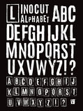 Linocut alphabet Stock Photo