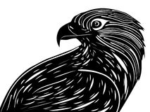Linocut style Eagle Royalty Free Stock Photography