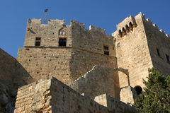 Linods Acropolis on Rhodos Ancient Archeological site, Greece.  royalty free stock photos