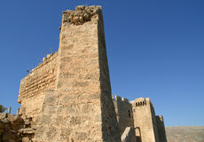 Linods Acropolis on Rhodos Ancient Archeological site, Greece Royalty Free Stock Images