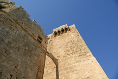 Linods Acropolis on Rhodos Ancient Archeological site, Greece Stock Image
