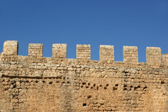 Linods Acropolis on Rhodos Ancient Archeological site, Greece Royalty Free Stock Image