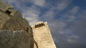 Linods Acropolis on Rhodos Ancient Archeological site, Greece stock video