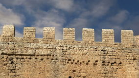 Linods Acropolis on Rhodos Ancient Archeological site, Greece stock footage