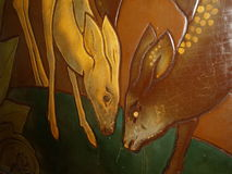 Linoleum deer Royalty Free Stock Photography