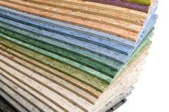 Linoleum multicolore dell'accumulazione Fotografia Stock