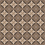 Linoleum seamless pattern. Brown color. Vector. Illustration Stock Images